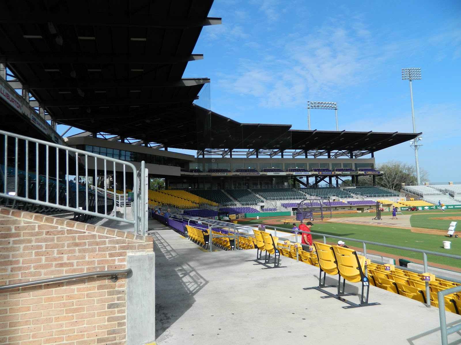 Just Down The Street From Tiger Stadium I Checked Out LSUs Baseball Facility Alex Box And Its Nicer Than A Lot Of Minor League Stadiums Ive