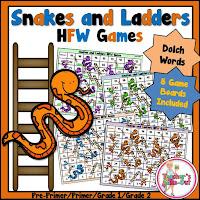 Snakes and Ladders using Dolch Words