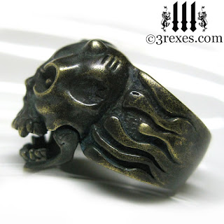 gargoyle ring with flames