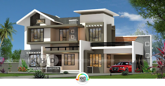 Modern mix roof 4 BHK 2350 sq-ft home
