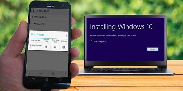 كيفية تثبيت ويندوز 10 من هاتف أندرويد