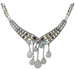 Fashion Jewelry Gemstone Necklace
