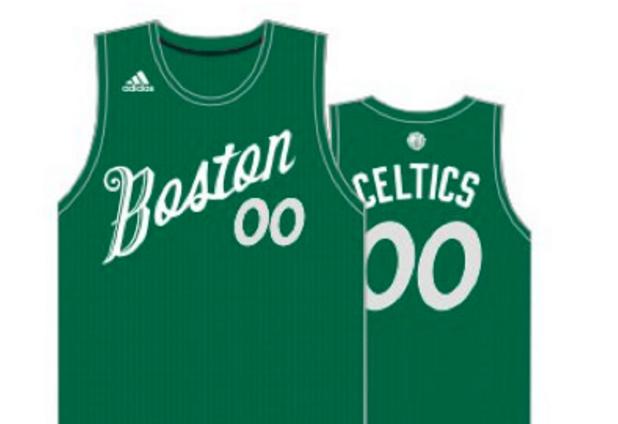 reputable site ed33b 0cc4c celtics xmas jersey