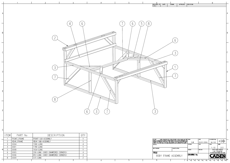 Stu's AK427 Build: Body support frame