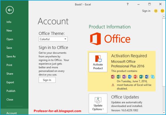 Microsoft Office 2016 Pro Plus 16.0.4549.1000 Inc. Patch ...