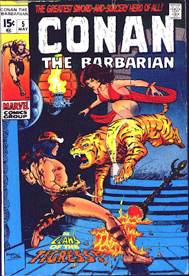 Conan the Barbarian v1 #5 marvel comic book cover art by Barry Windsor Smith