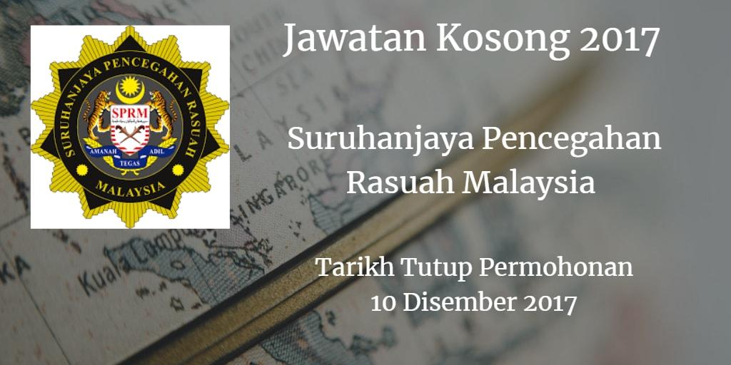 Jawatan Kosong SPRM 10 Disember 2017