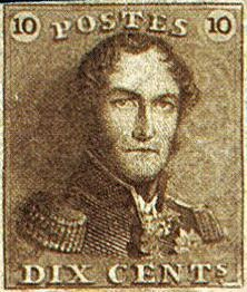 King Leopold I Epauletten Old Stamp First King Of