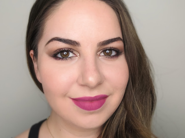 a picture of Too Faced Sweet Peach Palette Makeup Look (Peach Flambe)