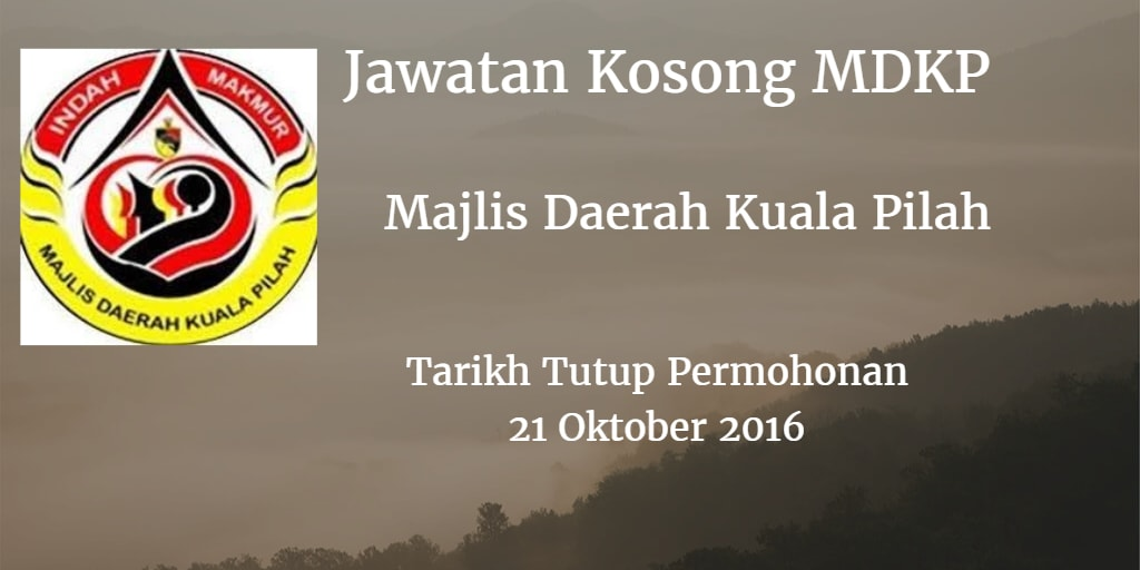 Jawatan Kosong MDKP 21 Oktober 2016