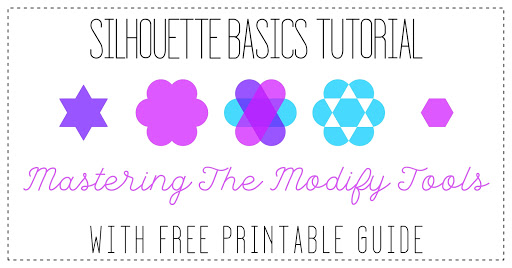 Modify tools Silhouette Basics Tutorial By Nadine Muir for Silhouette UK