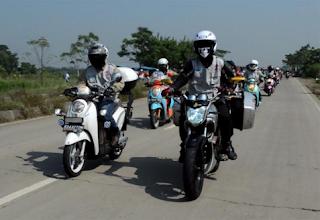 Modifikasi motor standart menjadi motor touring