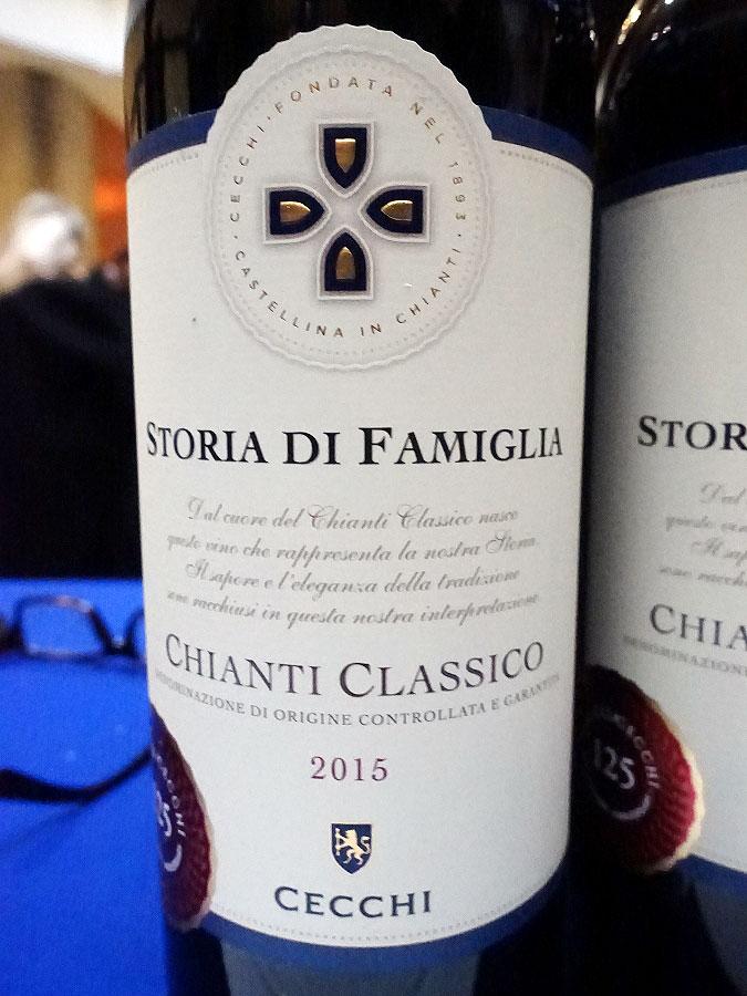 Cecchi Storia di Famiglia Chianti Classico 2015 (88 pts)