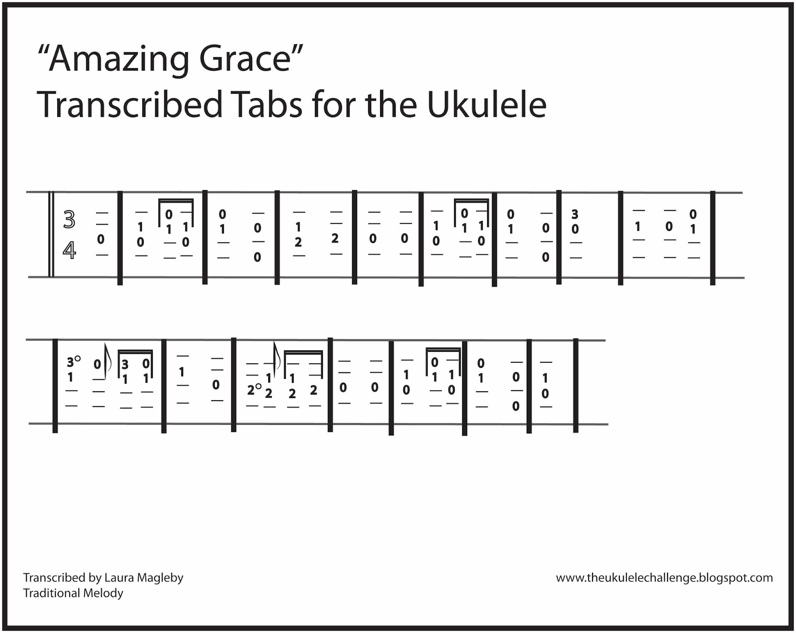 The Ukulele Challenge: u0026quot;Amazing Graceu0026quot; for the Ukulele