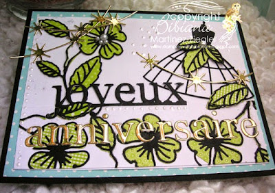 joyeux anniversaire dress card flat view