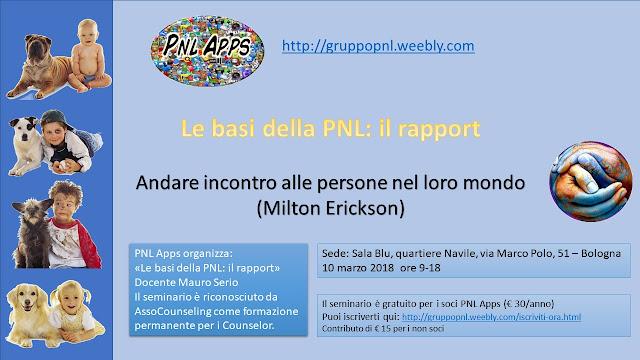 Le basi della PNL: il rapport