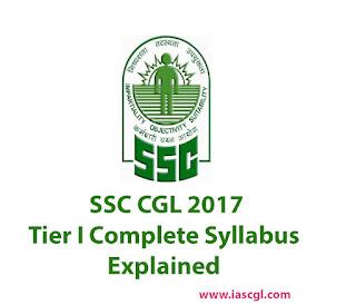 SSC CGL 2017 Syllabus