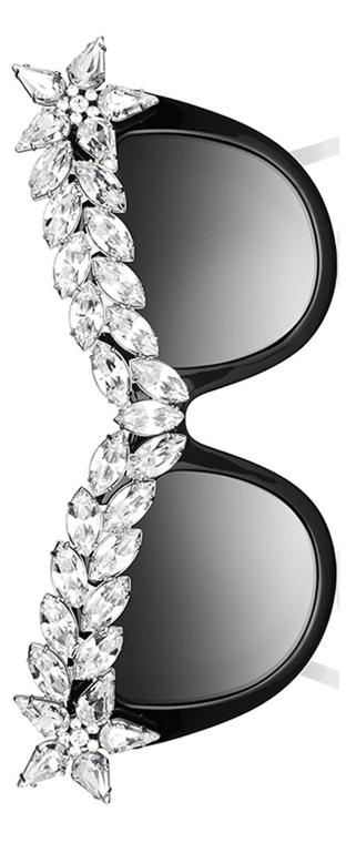 Anna-Karin Karlsson  Decadence Crystal-Brow Sunglasses Black
