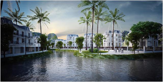 Không gian nội khu dự án Mon Bay Hạ Long