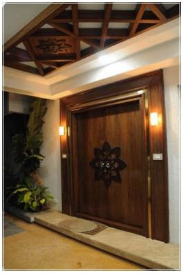 model daun pintu utama dari kayu jati