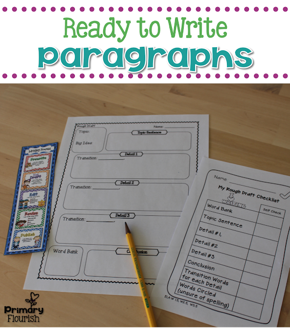 This paragraph writing unit is packed with resources that will help you develop your young writers into strong, independent writers!   This pack contains differentiated graphic organizers and rubrics that will take your writers through the Writing Process. Learning the steps to the Writing Process will enable your students to write well developed paragraphs.  These resources can be used all year, for any theme or subject area you are working on- great for writing across the curriculum!