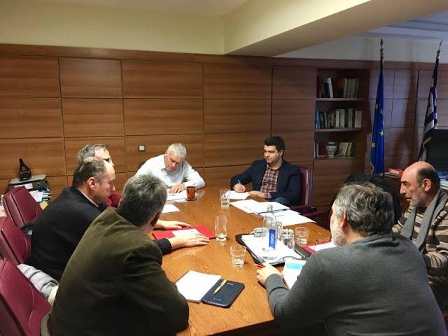 Συνάντηση του Μάριου Κάτση και εκπροσώπων από το χώρο της υδατοκαλλιέργειας, με τον Γ. Τσιρωνη