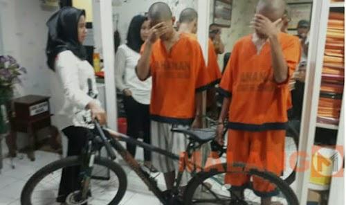 Buat Jajan, Dua Remaja Curi Sepeda Dan Elpiji