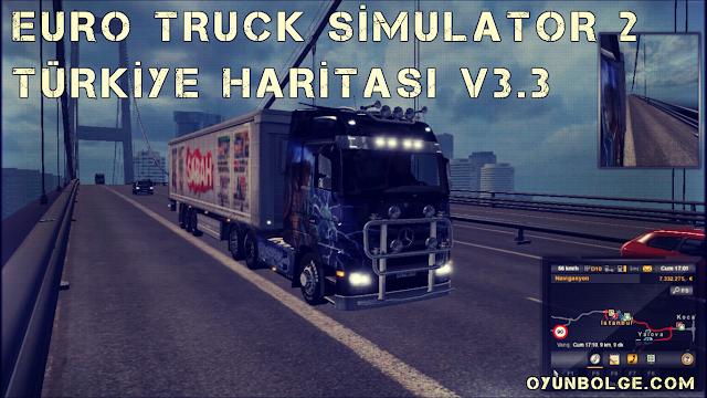 Euro Truck Simulator 2 Türkiye Haritası v3.3