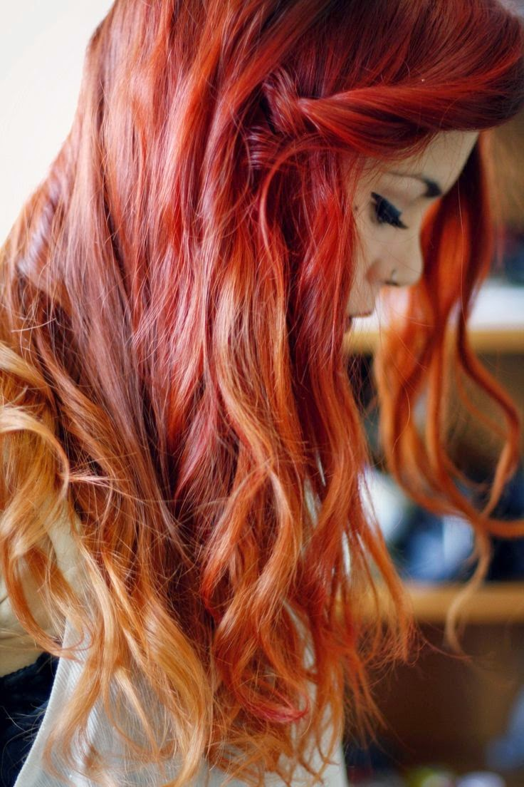 Red ombre hair, I am so in love with this hair!!!!! Too much maintenance in keeping the color vibrant for me though :( but gosh! So pretty!!!