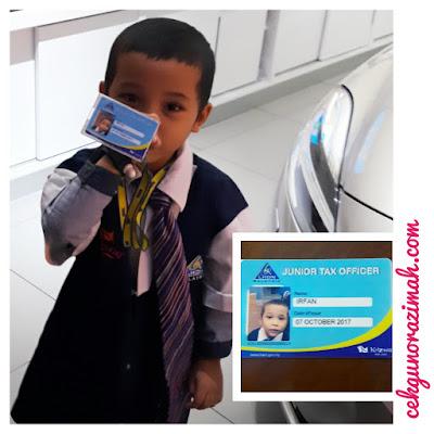 junior tax officer, pejabat LHDN di Kidzania KL, pejabat LHDN, irfan hensem, irfan,