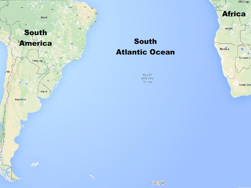 Map of the Atlantic Ocean Different Types of Maps All Five Oceans
