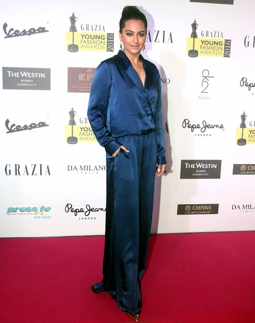 Sonakshi Sinha In Blue Dress
