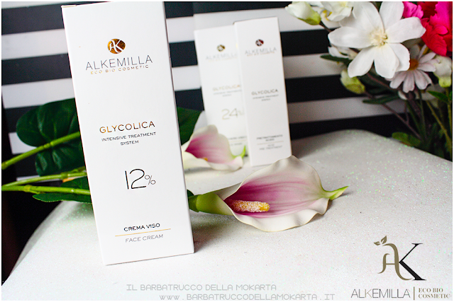 crema viso 12 review antiage antimacchie trattamento acido glicolico GLYCOLICA alkemilla cosmetics