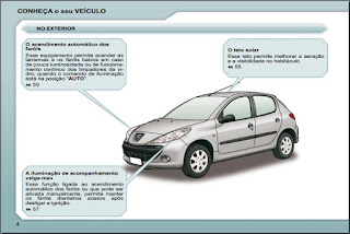 Manual do proprietário Peugeot 207 hatch,sedã e SW