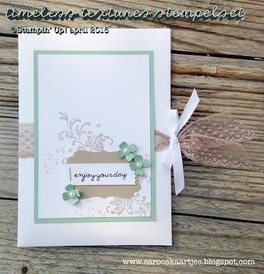 Stampin' Up! producten zijn verkrijgbaar via Caro's Kaartjes - carooskaartjes@hotmail.nl - www.carooskaartjes.blogspot.com