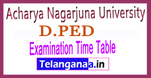 ANU D.PED 1st Semester Exam Time Table 2018 (Theory Practical)