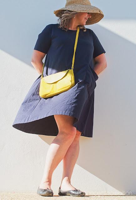 sac à main cuir jaune fait main
