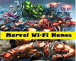 Marvel WiFi Names - cool wifi names
