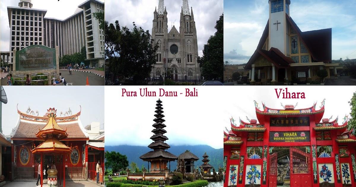 6 Agama Di Indonesia disertai dengan Kitab Suci, Tempat