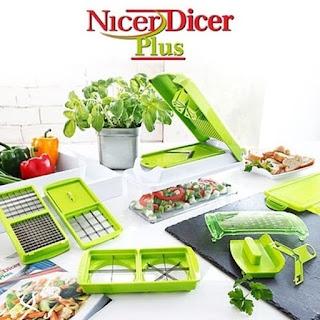 Genius Nicer Dicer Plus alat Pemotong sayuran Serbaguna