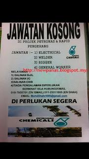 Petronas Pengerang Kerja Kosong