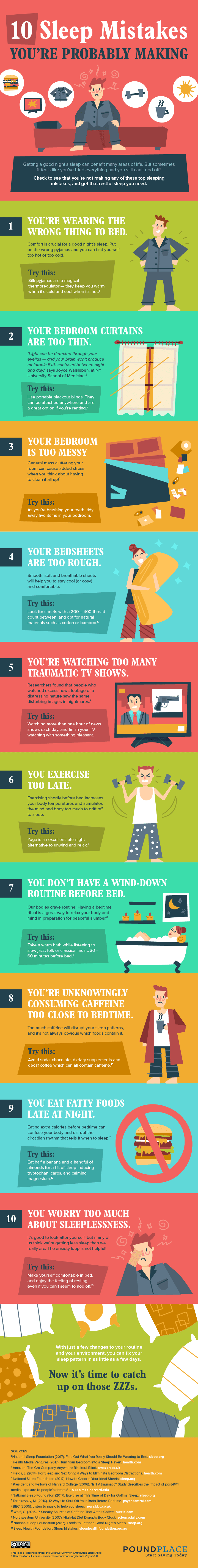 10 Sleep Mistakes You're Probably Making - #infographic