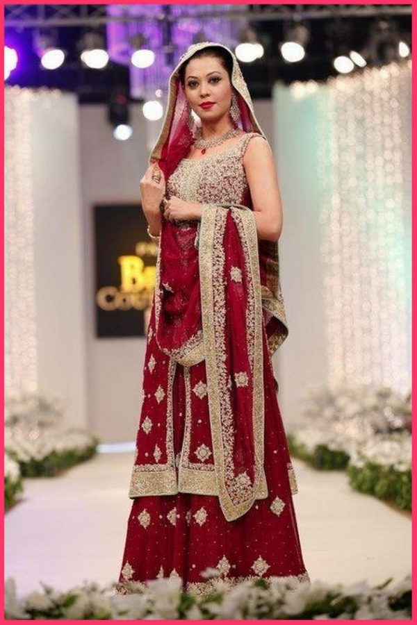 Pakistani latest bridle wedding designs lehenga frock for Indian wedding dresses for girls