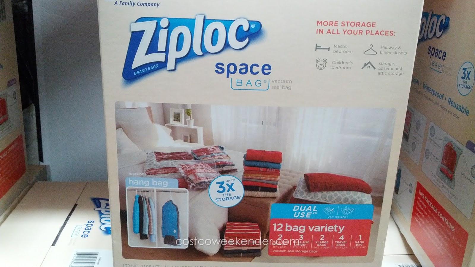 Ziploc Space Bag 12 Pc Costco Weekender