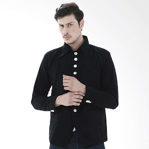 Crows Denim Stylish Exclusive Mens Style Jas Pria - Hitam
