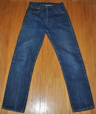 Vintage 1960s Levis 505 so called type-S front ovewview