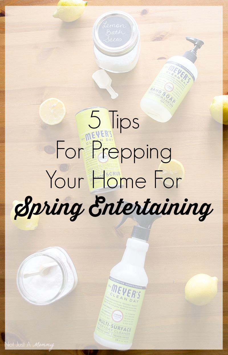 5 Tips To Prepping Your Home For Spring Entertaining
