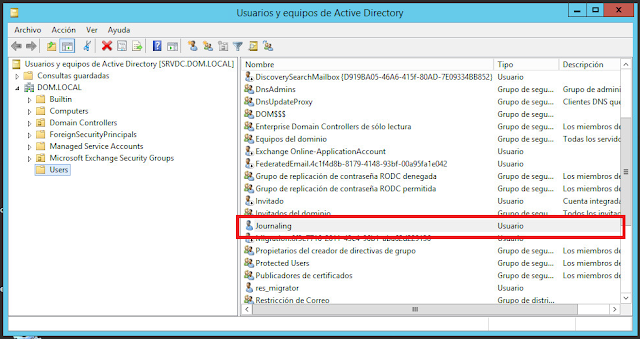 Usuarios y equipos de Active Directory