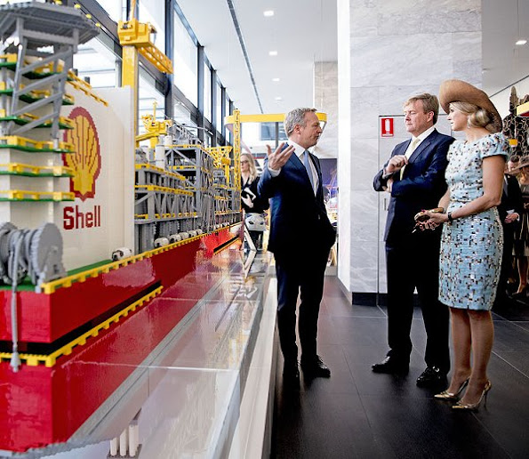 Queen Maxima and King Willem-Alexander visited Shell Prelude Control Center