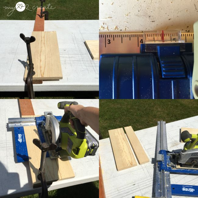 ripping 1x8 boards to make a wider top and bottom of night stand